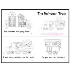 """FREE Sight Word Emergent Reader for Christmas: """"The Reindeer Train"""" – Hanukkah Emergent Literacy, Emergent Readers, Preschool Books, Free Preschool, Reading Games, Reading Activities, Student Reading, Teaching Reading, Learning A Second Language"""
