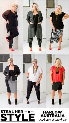 harlow australia plus-size fashion winter autumn fall