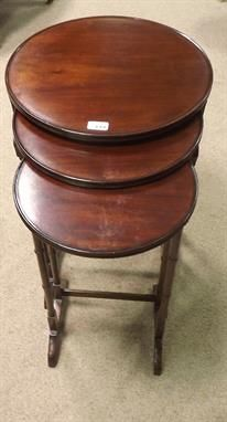 Unusual Set of Edwardian Mahogany Circular Nest of Tables The Saleroom, Antique Auctions, Nest, Tables, Antiques, Furniture, Home Decor, Homemade Home Decor, Mesas