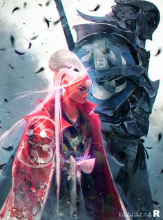 """rossdraws: """" Nima and a Phantom Guard!! Another one for the book :) """""""