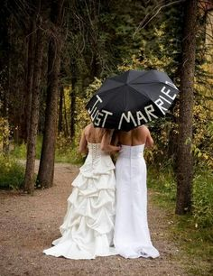 Im not insinuating anything... just thought this was really cute. Okay.... maybe I am. Im just going to make another board and stay out of trouble.  #lesbian #wedding