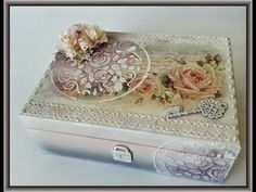 ▶ Romantic French Vintage - Tutorial Decoupage - YouTube