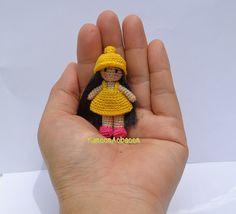 miniature crochet doll