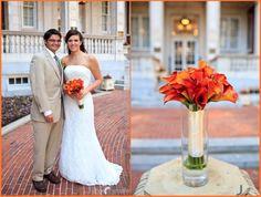 Mango Calla Lily Bouquet/Orange Calla Lily Bouquet | by Dorothy McDaniel's Flower Market & JD Photography