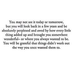 You will be grateful