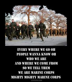 "USMC. ... If you""ve  ever chanted this you will a always here the echo in your heart!"