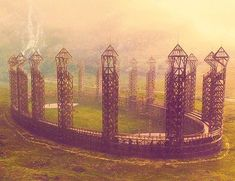 the Quidditch pitch at Hogwarts