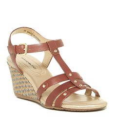 Look at this Dark Brown Kimili Leather Wedge on #zulily today!