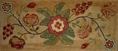 New England hearth rug circa 1850