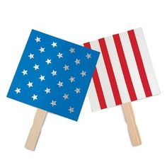 American Flag Square Fan Craft for Parades