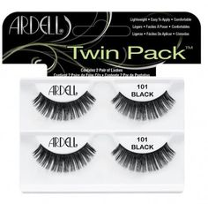 Best-selling lashes now in a twin pack, the Ardell 101 Lash Twin Pack contains 2 pairs of 101 lashes   #Eye #EyeLashes #MultipackLashes #Ardell #ArdellMultipackLashes #ArdellEyeLashes   http://www.eyelashesunlimited.com/
