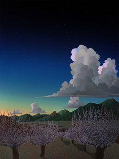 Doug West paintings available from Leslie Levy Fine Art Fantasy Landscape, Landscape Art, Landscape Paintings, Let's Make Art, Southwestern Art, West Art, Environment Concept Art, Sky And Clouds, Art Studies