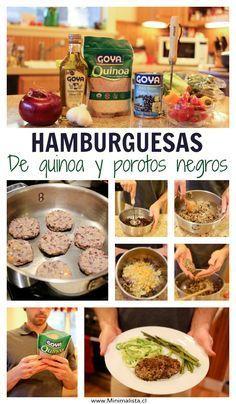 Hamburguesas de Quinoa y Porotos negros. Receta con fotos PASO A PASO.