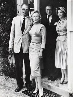 Arthur Miller, Marylin Monroe, Laurence Olivier, and Vivien Leigh
