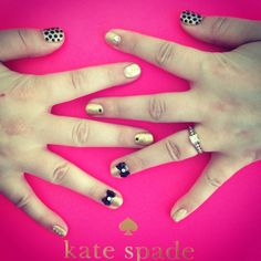 Kate Spade Style Nails by Moi