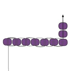 Basic Brick Stitch - Decreasing: Step 2