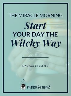 The Miracle Morning is a book and a lifestyle, which helps you design a more productive morning routine. In the time since I heard of it four years ago, it has really made a huge, positive impact on my life and I think it could help you too. Morning Meditation, Morning Ritual, Daily Meditation, Real Magic Spells, Chakra Chart, Witchcraft For Beginners, Herbal Magic, Meditation Crystals, Morning Start