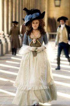 Keira Knightley as Georgiana, Duchess of Devonshire in The Duchess (2008).