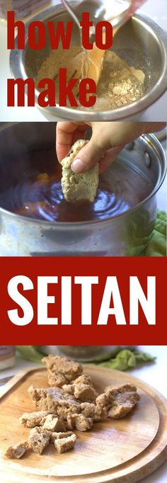 Crafting homemade seitan is super easy. This step-by-step tutorial will show you how to make seitan with vital wheat gluten and a few pantry staples! Vegan Seitan Recipe, Seitan Recipes, Seitan Food, Delicious Vegan Recipes, Vegetarian Recipes, Healthy Recipes, Vegan Soul Food Recipes, Vegan Foods, Vegan Dishes