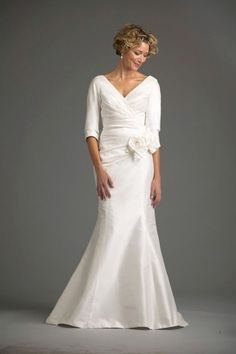 Light and modern, here's a dress that works for quick renewals and ceremonies throughout the spring. Description from idotaketwo.com. I searched for this on bing.com/images