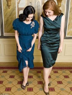 Dita is definitely a girl crush of mine.  I love the way she dresses.  That dress!  The brooch! Those shoes! Heavenly.