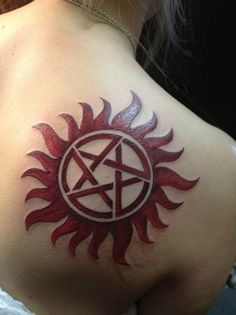 Definitely getting this one done. Just in black, not red. #supernatural #antipossession #tattoo