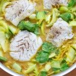 Cod with spicy tumeric coconut sauce