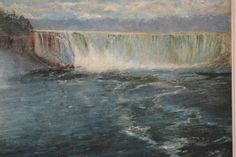 A View Of Niagara Falls Ferdinand Richardt Oil On Canvas 36 X 29 Private Collection