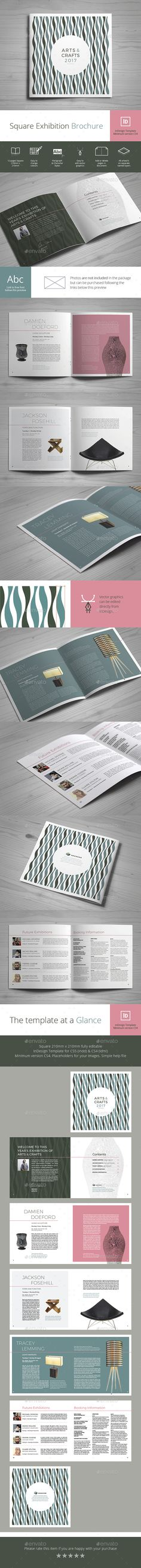 Square Exhibition Brochure Template 	InDesign INDD. Download here: http://graphicriver.net/item/square-exhibition-brochure/16323445?ref=ksioks