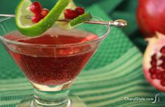 Refreshing vodka pomegranate cocktail