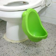 A kids urinal makes potty training a little more bearable.