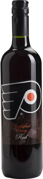 Chaddsford Winery has Flyers Red -- a blended wine that is the preferred wine of the Philadelphia Flyers.