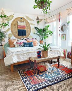Awesome Bohemian Bedroom Designs and Decor & Bohemian Style Ideas The post Awesome Bohemian Bedroom Designs and Decor Bohemian Bedroom Design, Bohemian Bedroom Decor, Bedroom Designs, Modern Bohemian Bedrooms, Modern Bedroom, Bohemian Chic Decor, Vintage Bohemian, Deco Retro, Bedroom Colors