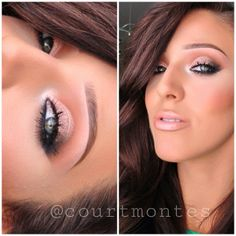 .@courtmontes | All that glitters & reflects gold glitter on the eyes  Nylon Nude lipstic... | Webstagram