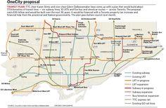 Transit plan: Dramatic OneCity proposal floated by Stintz, DeBaeremaeker 30 Years, Proposal, Property Tax, Toronto, How To Plan, News