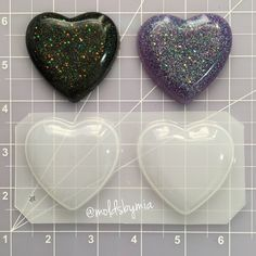 ON SALE Puffy Large Hearts flexible plastic resin mold ~ 2 cavity by MoldsbyMia on Etsy https://www.etsy.com/ca/listing/454832020/on-sale-puffy-large-hearts-flexible