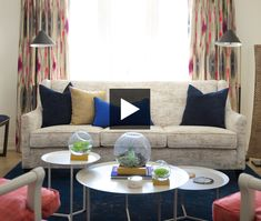 See how designer Erin Feasby totally transforms a main floor. Her fresh ideas for kitchens, dining rooms and living rooms are worth stealing! Bright Rooms, Home Tv, Pretty Cool, Great Rooms, Family Room, New Homes, Throw Pillows, Flooring, Cool Stuff