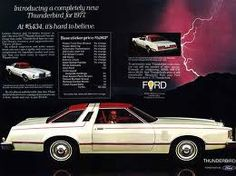 introducing the newly designed 1977 Ford Thunderbird. Love the wrapover roof band with the window - reminiscent of the 1956 Ford Crown Victoria!