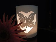 White Butterfly Luminarias for Parties or Weddings