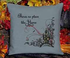 There's No Place Like Home Customizable Pillow Cover by SheBellaBirk on Etsy