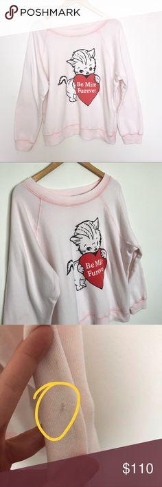 66e29809e1 Be mine furever cat wildfox baggy jumper pink rare Good condition. A rare  piece!