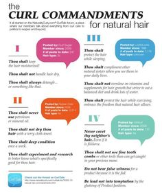 """The Curl Commandments"" by naturallycurly.com/ lol!"