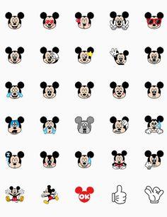 Mickey Mouse Wallpaper, Disney Phone Wallpaper, Pink Wallpaper Iphone, Mini Drawings, Disney Drawings, Cartoon Stickers, Cute Stickers, Emoji Set, Emoji Characters