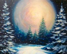 winter moon card