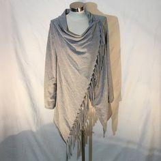Gray long sleeve tassel blouse. Gray long sleeve tassel blouse.  Polyester. Boutique Tops Blouses