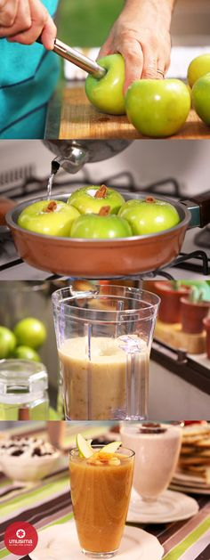 Licuado de manzanas asadas. 3 minutos con Santiago Giorgini. http://www.utilisima.com/recetas/10439-licuado-de-manzanas-asadas.html