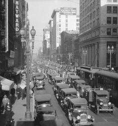 Los Angeles in the 1930's-Nona grew up here when parts of the roads downtown were still dirt.