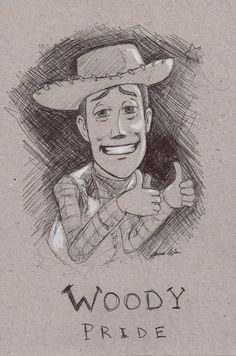 Woody Pride :Ink - Toy Story: by JereduLevenin on DeviantArt