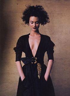Vogue US March 1996, Isn't It RomanticShalom Harlow by Irving Penn