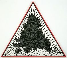 Pile of Crowns for Jean-Michel Basquiat - 1988 by Keith Haring - Juxtapoz Magazine